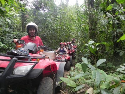 Savor the powerful presence of the Volcano on your own ATV quad, then spend the second half day Rafting on Balsa River Class II & III.