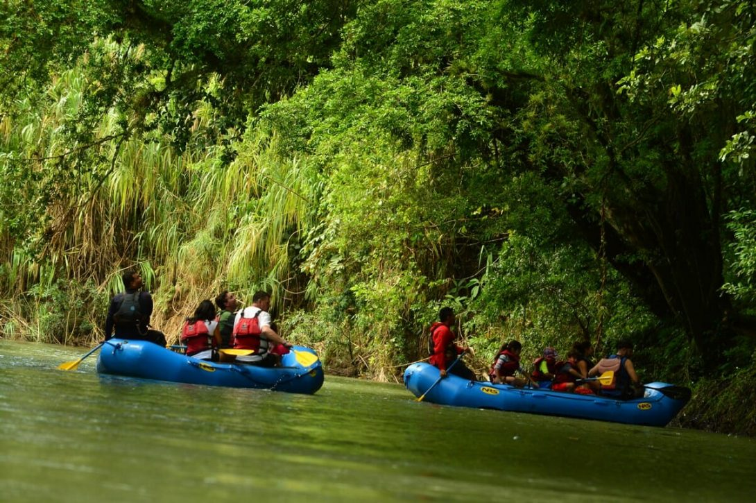 Disfrute los paisajes y sonidos de la vida silvestre en Costa Rica con este safari en balsa por el río Peñas Blancas