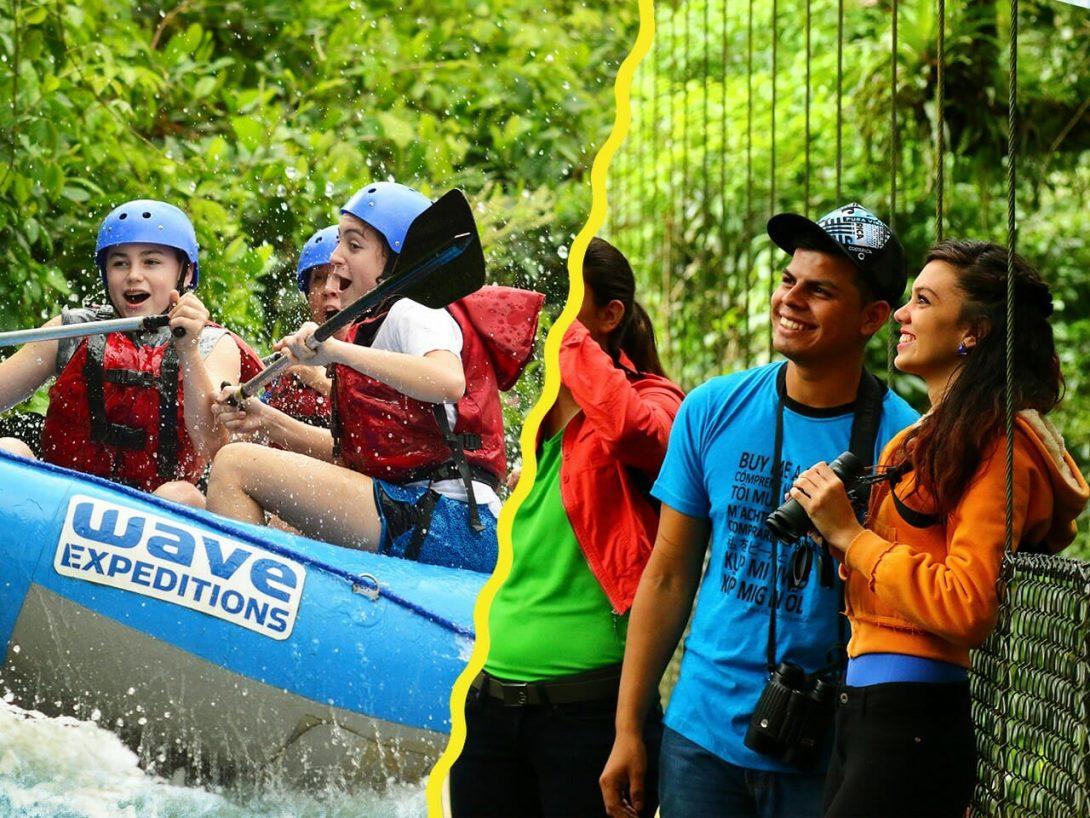 El Combo de aventura de puentes colgantes y rafting está diseñado para alguien que quiera ver la belleza del bosque tropical lluvioso